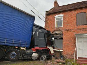 The Fox Inn after a crash on the A41 in Shakeford, in between Hinstock and Market Drayton