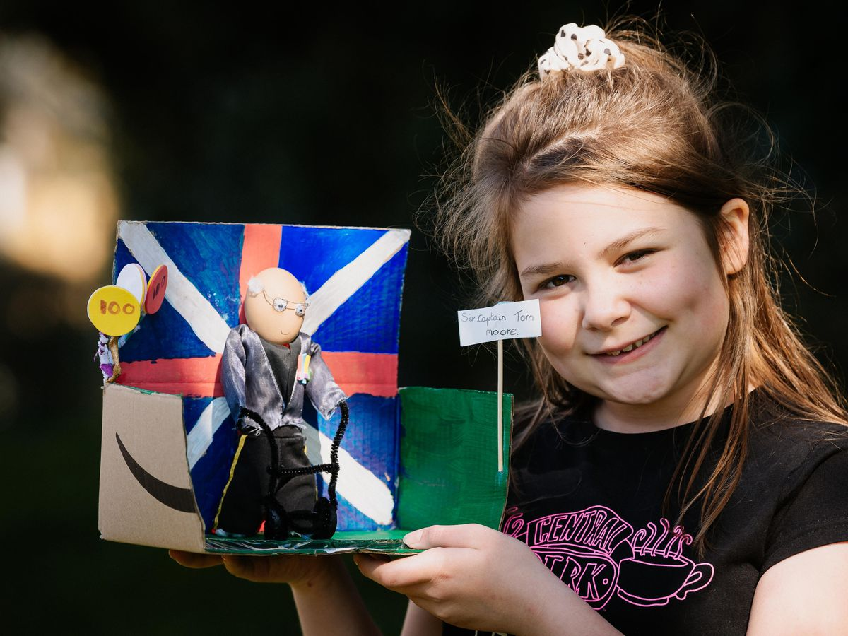 Gracie Richards, 10, from Wem has won an Easter competition at her school for a decorated egg of Sir Captain Tom Moore