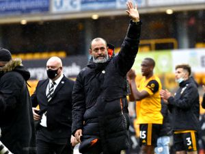 Wolverhampton Wanderers manager Nuno Espirito Santo waves to the fans after his final game
