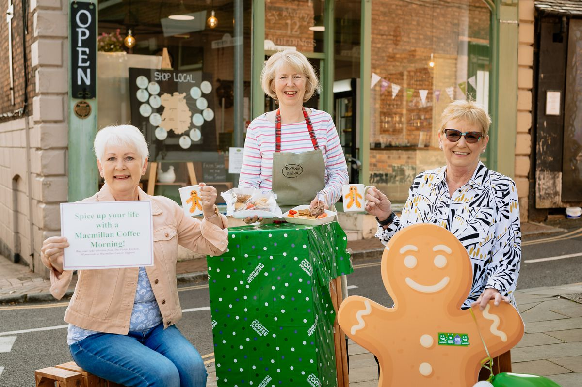 From left are Vicki Grieves, Tracey Edwards and Sue Harrison at the Fields Kitchen