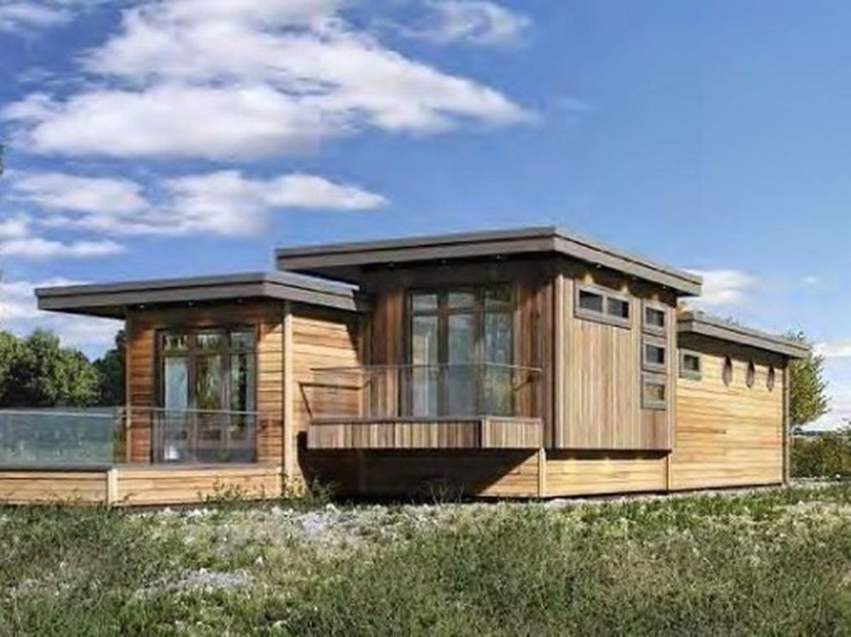 How the holiday lodges would look under the plans