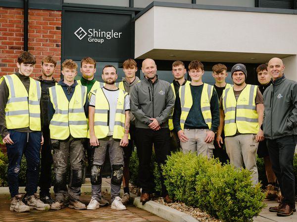 SHREWS COPYRIGHT SHROPSHIRE STAR JAMIE RICKETTS 13/10/2021 - Shingler Group based in Shrewsbury celebrates the success of its Apprenticeship scheme..