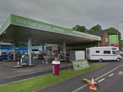 Appeal as hammer robber threatens staff at Shropshire petrol station