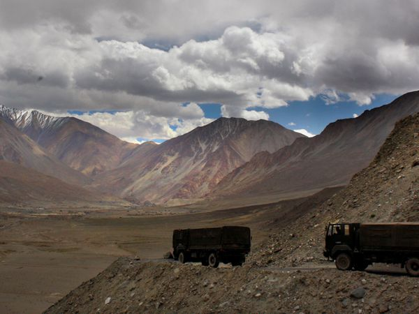 The India-China border in India's Ladakh area