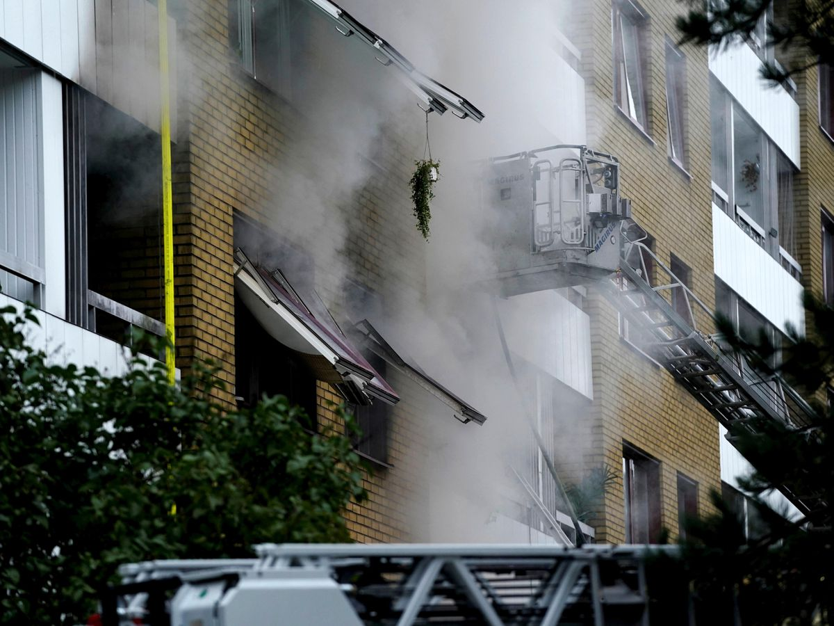 The blast in Sweden