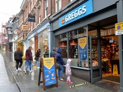 Peckish pastry lovers defy the rain as some Shropshire Greggs stores reopen