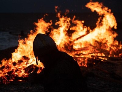 In Pictures: Longboat ceremony brings viking festival to fiery finish