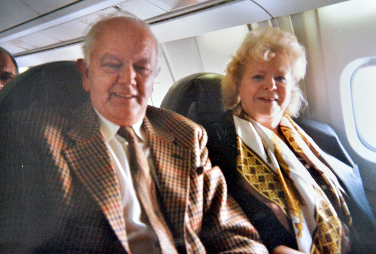 Alan Beckett on board Concorde with his late wife Beryl