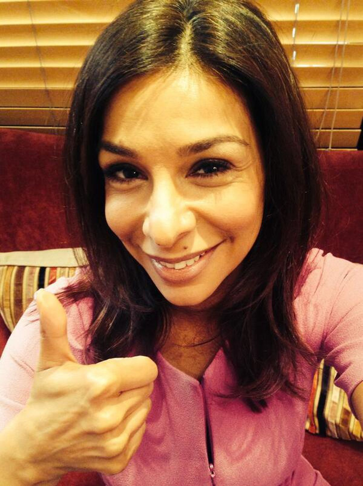 Shobna lends her support to the #ThumbsUpForStephen twitter campaign for Burntwood cancer campaigner the late Stephen Sutton