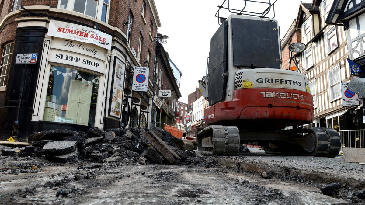 What goes down must be dug up - these recent road works in Wyle Cop give the clue why the scheme failed