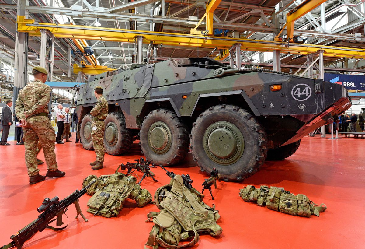 The British Army's Boxer armoured vehicle is made by BAE at Hadley Castle Works, Telford, with Rheinmetall