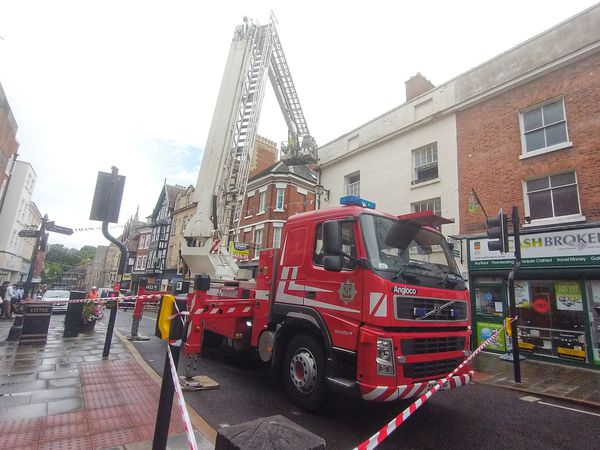Fire crews on Castle Street in Shrewsbury