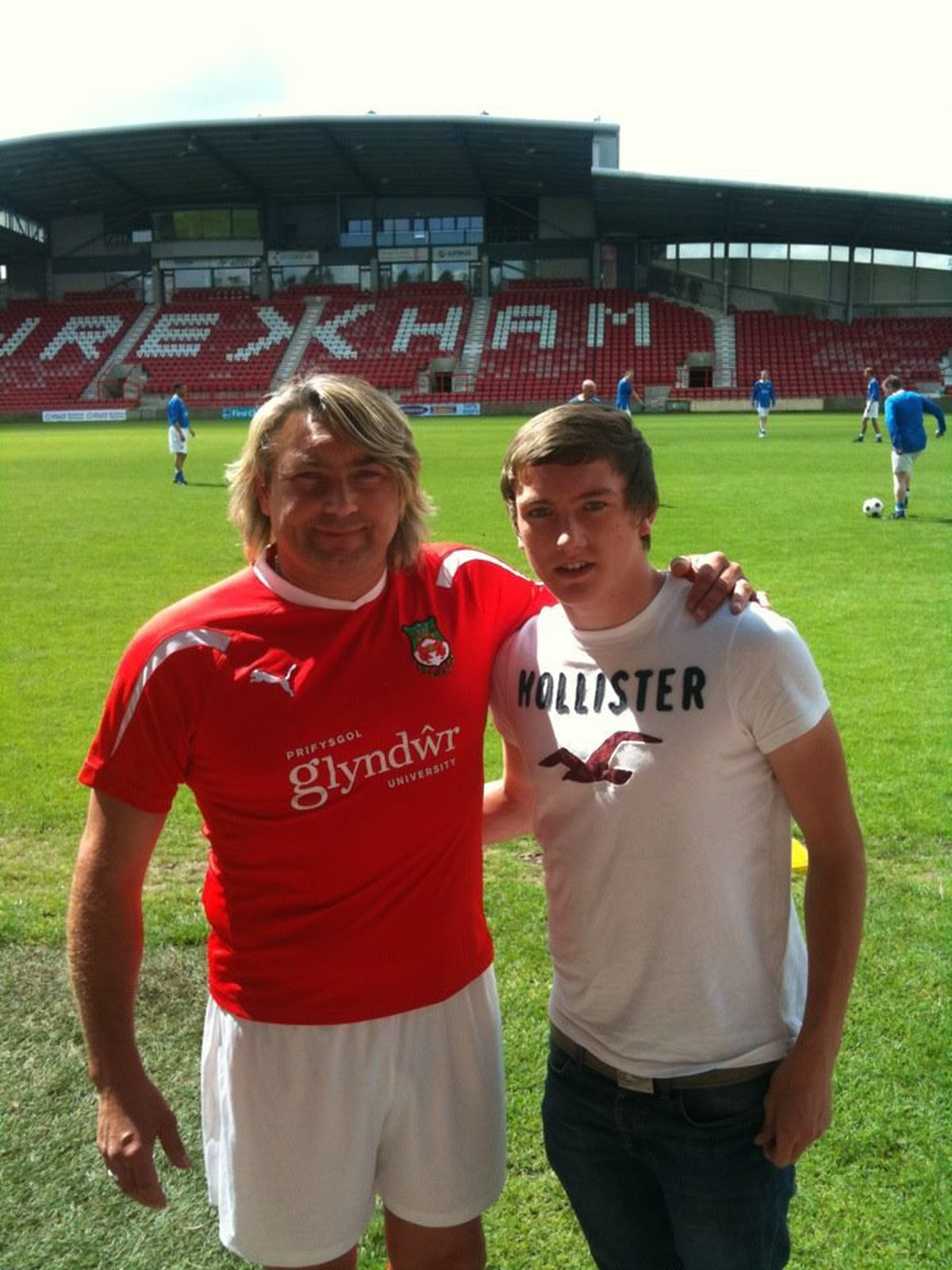 Darren Wright with his son, Lewis.