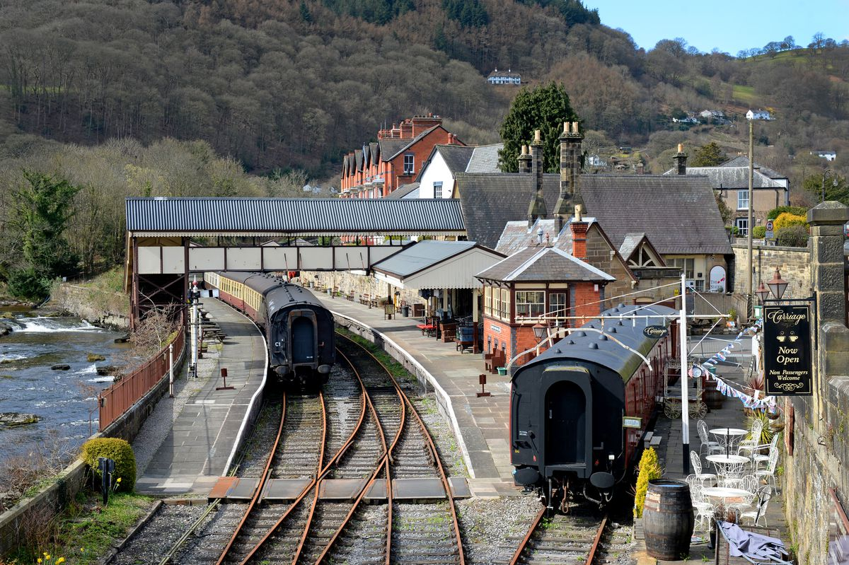 The railway runs from Llangollen, pictured, to Corwen