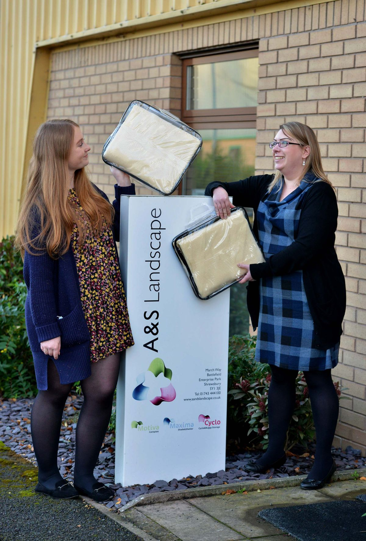 Lucy Grime and Victoria Scott-Ison of Shrewsbury-based A&S Landscape