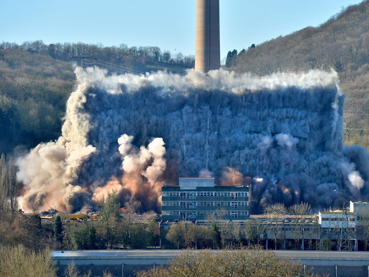 A previous demolition at the power station site