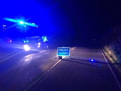 Road closed as tanker carrying 18 tonnes of acid breaks down on steep hill