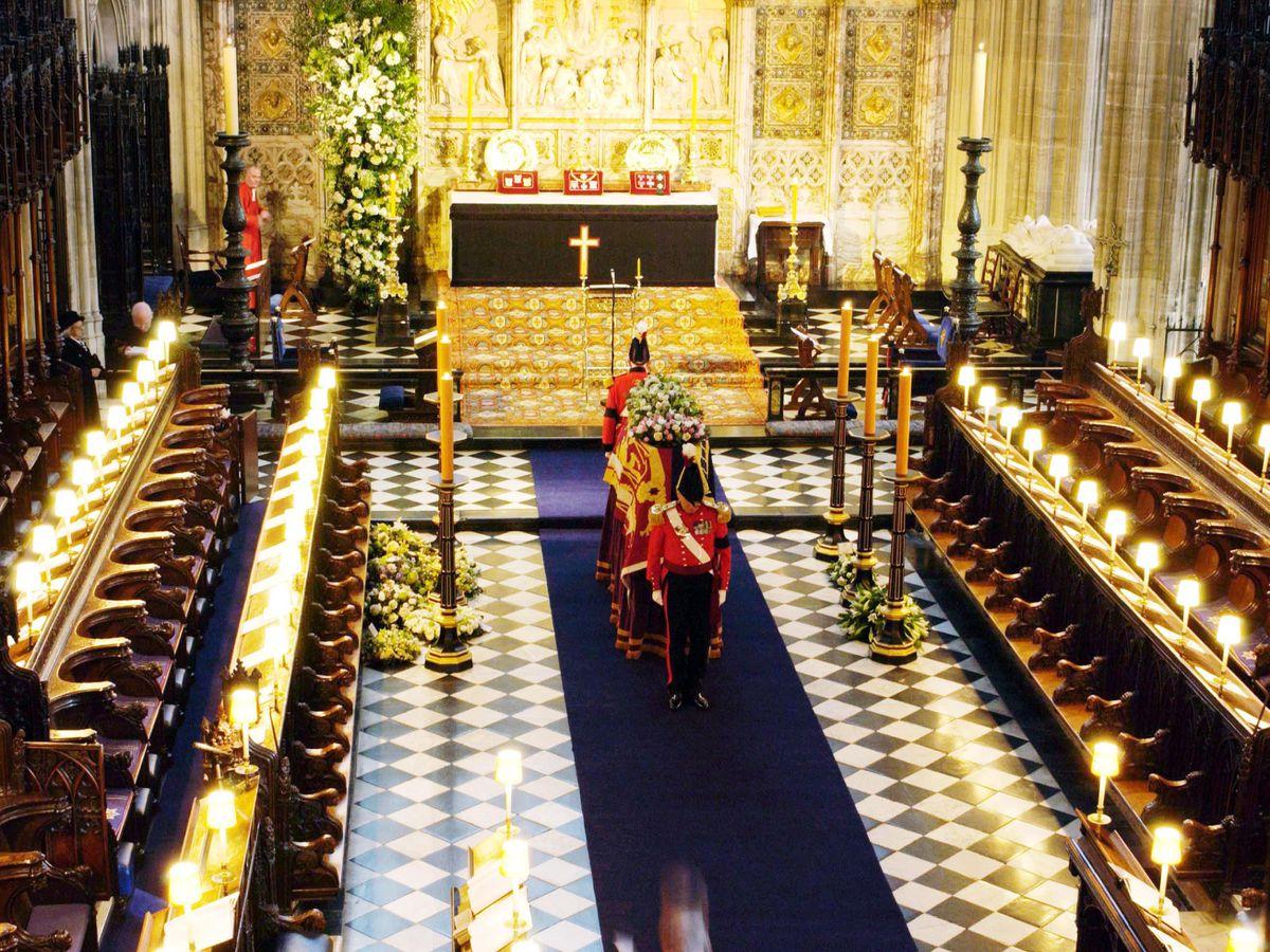 Princess Margaret funeral at St George's Chapel in Windsor