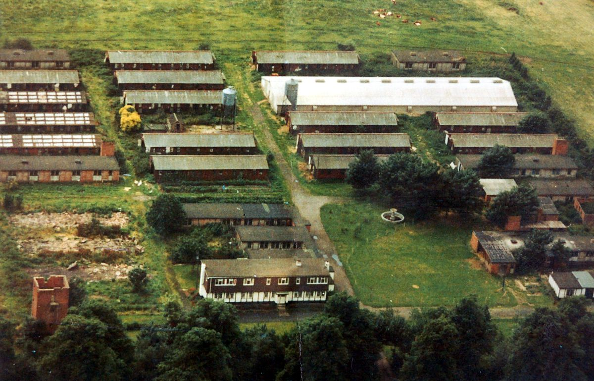 The Sheriffhales prisoner of war camp – pictured here in about 1970 shortly before most huts were demolished – held first Italian, then German prisoners.