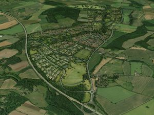 An artist's impression of what the development in Tong could have looked like, which has been withdrawn from Shropshire Council's plans
