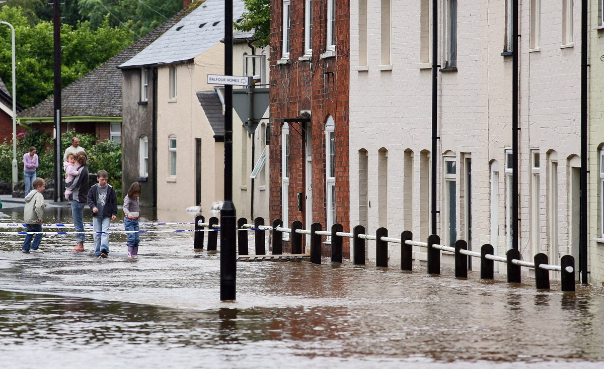 Flooding at Temeside in Ludlow. Picture: Richard Stanton