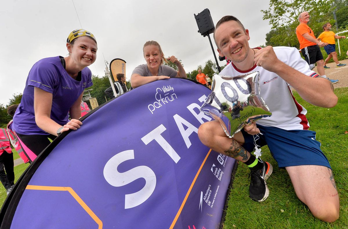 Doing his 100th parkrun was Dan Seabury, joined by Jennifer Willott, from Telford, and doing her first parkrun Khai Jackson, from Wellington
