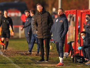 TELFORD COPYRIGHT MIKE SHERIDAN Telford manager Gavin Cowan during the Vanarama Conference North fixture between AFC Telford United and Kettering Town at Latimer Park on Saturday, December 12, 2020...Picture credit: Mike Sheridan/Ultrapress..MS2021-049.