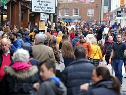 Shoppers in Shrewsbury bucking the trend as numbers rise