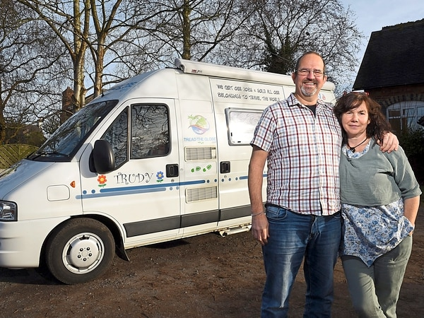Happy campers! Telford couple swap £500,000 home to travel the world in a camper van