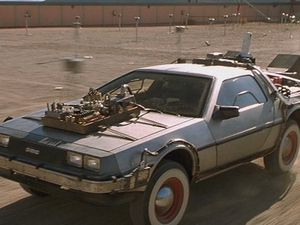 bttf03.jpg LOW RES INTERNET IMAGE 22/12/05.DORIAN CAR FROM FILM BACK TO THE FUTURE. MICHAEL J FOX