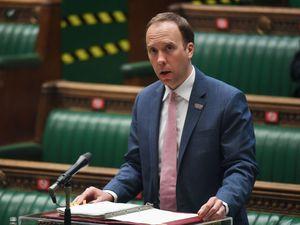 Health Secretary Matt Hancock speaks in the Commons