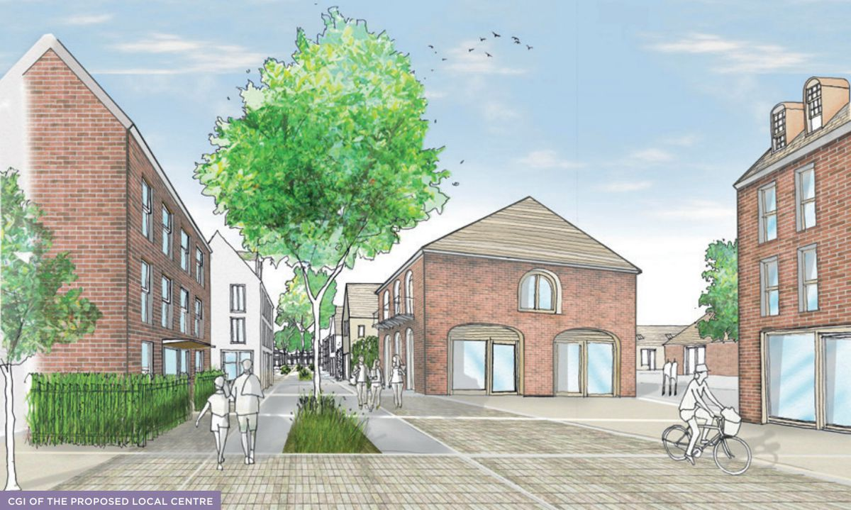 An artist's impression of the proposed 'local centre'