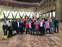 Schoolchildren given tour of iconic Ironbridge cooling towers ahead of demolition