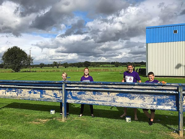 Volunteers have been out in force at Shrewsbury Rugby Club to get the ground ready for the new rugby union season