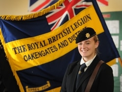 Telford girl, 16, becomes one of RBL's youngest standard bearers