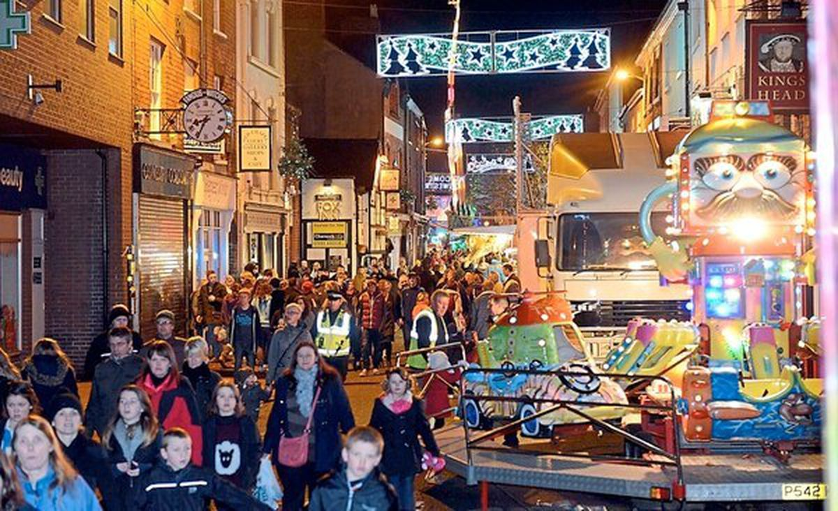 Christmas Live turns Oswestry into a giant funfair and street market