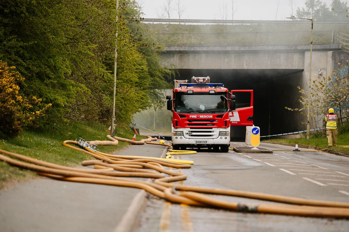 Fire crews on site on Tuesday morning