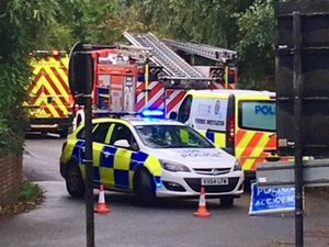 The road leading to Coalport was closed off by emergency services
