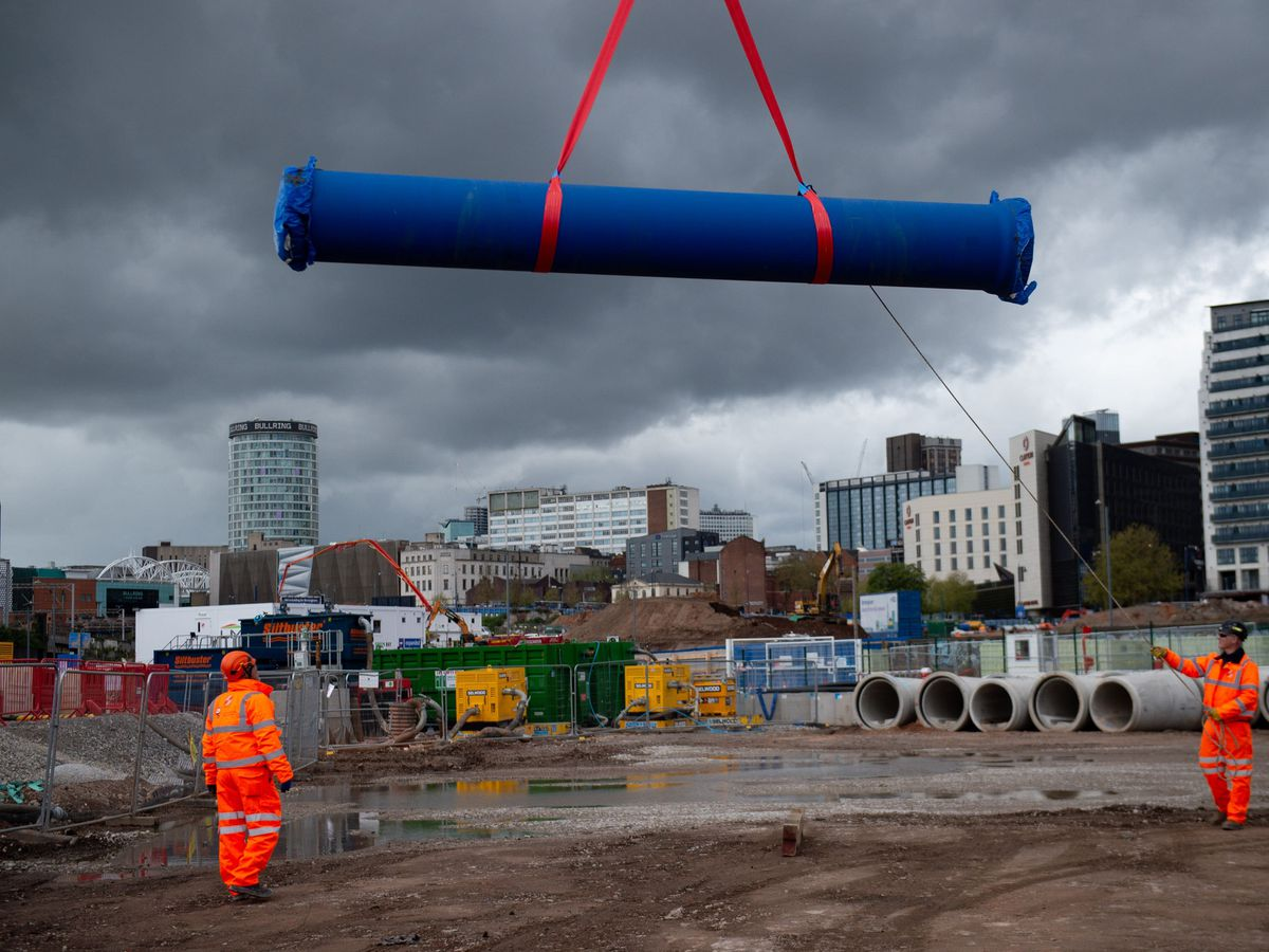 Work on the HS2 line