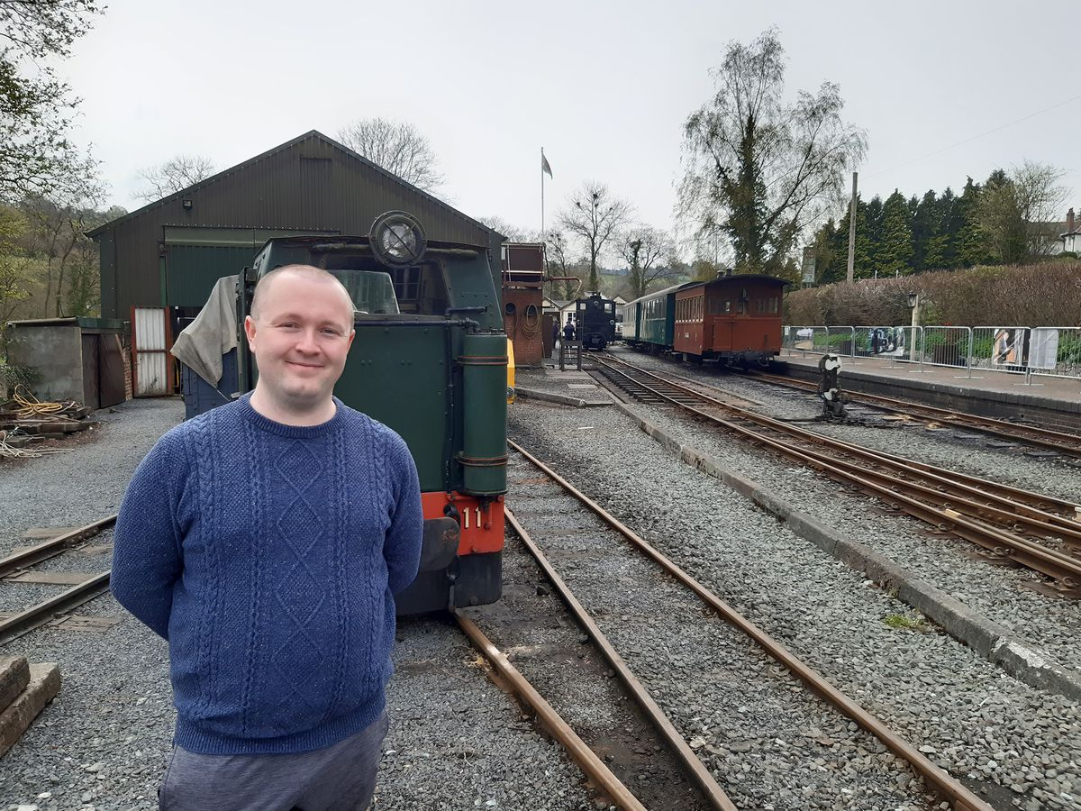 Welshpool & Llanfair Light Railway volunteer Oliver Edwards