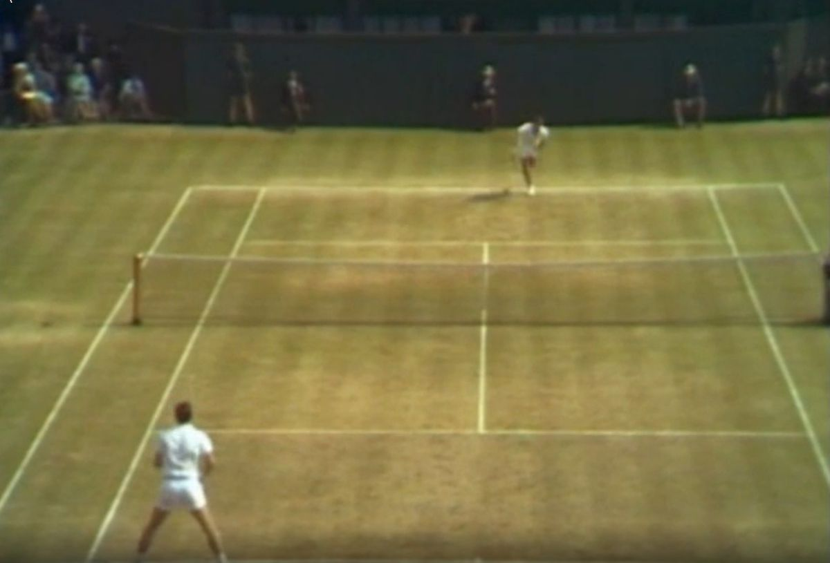 Action from Wimbledon on July 1, 1967 was the first colour broadcast