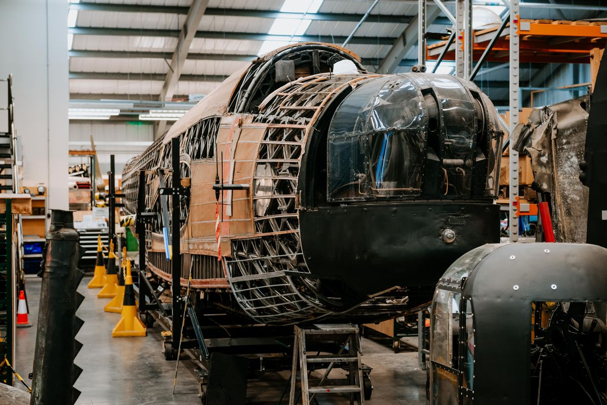 The Wellington bomber that will be on display during RAF Cosford Museum's conservation open week