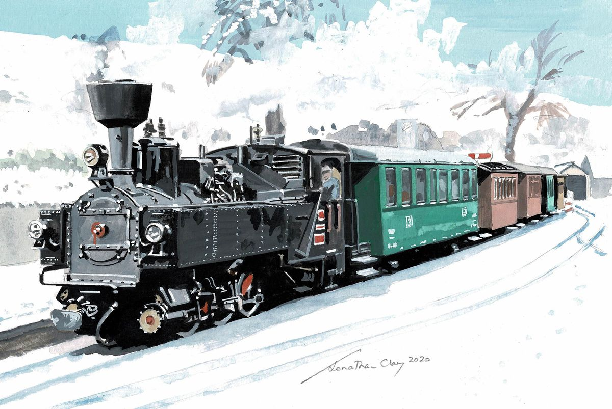 Christmas cards are still available from the railway website