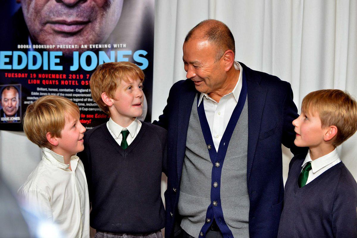 Eddie Jones meeting his fans