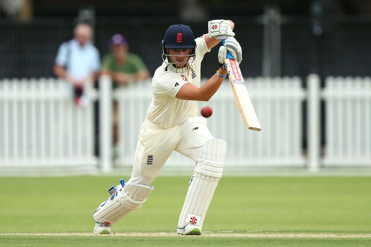 Joe Clarke playing for England Lions in 2017