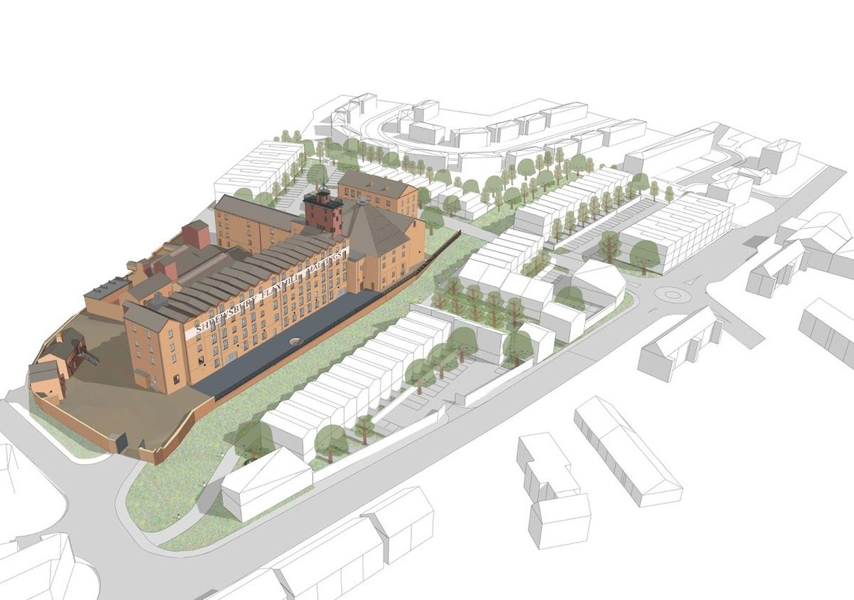 An artist's impression of plans for the Flaxmill Maltings site
