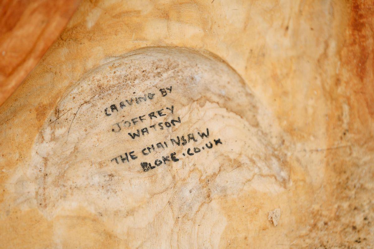 Joffrey Watson, aka The Chainsaw Bloke, created the intricate artwork