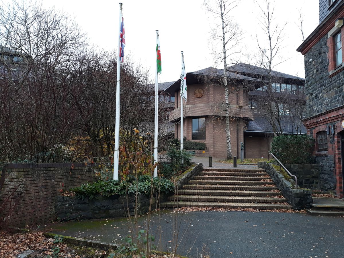 Powys County Council headquarters, County Hall picture by Elgan Hearn