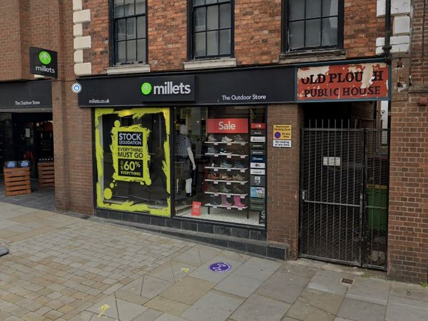 Millets in Shrewsbury town centre was among the shops targeted. Photo: Google