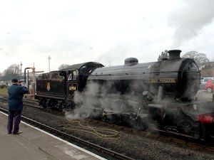 Back again – The Great Marquess, seen here at the Severn Valley Railway's Kidderminster station for a 40th anniversary steam gala in 2010.
